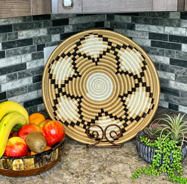 Neri Woven Large Tray by Azizi Life from Rwanda