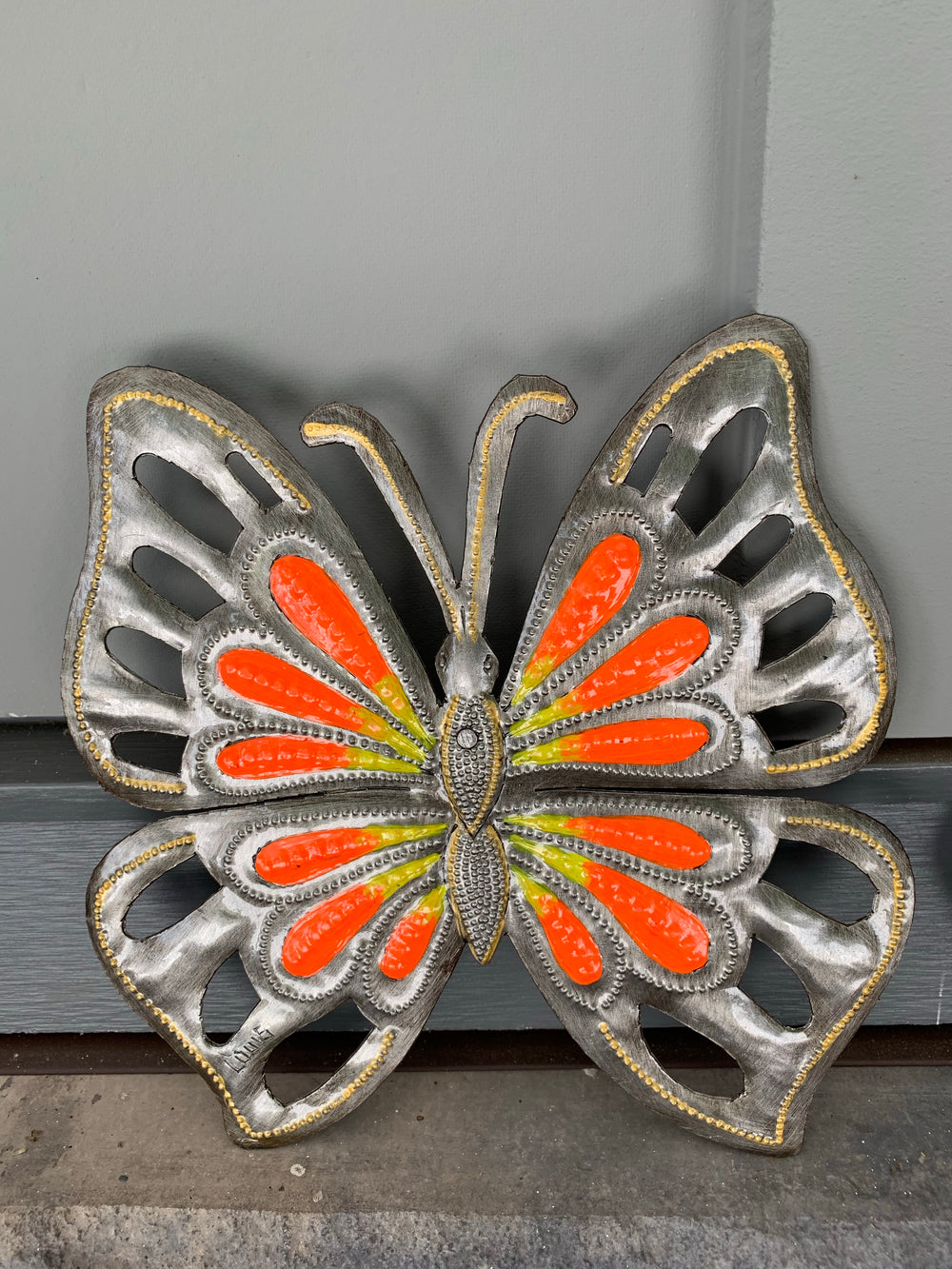 Recycled Steel Drum Butterfly by Singing Rooster from Haiti