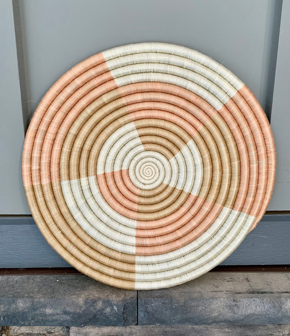 Staccato Flat Woven Wall Hanging by Azizi Life from Rwanda