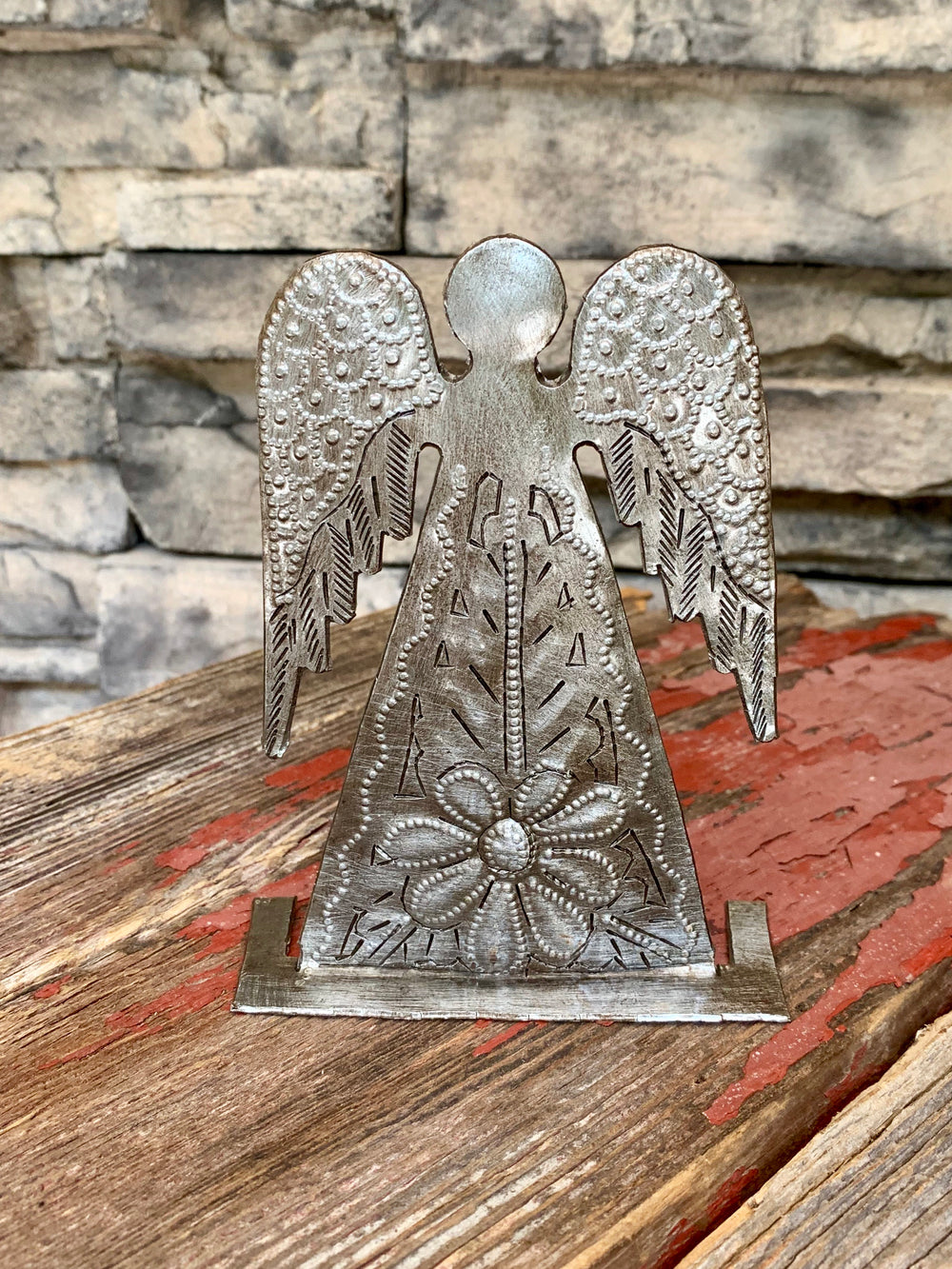 Steel Drum Standing Angel by Papillon from Haiti