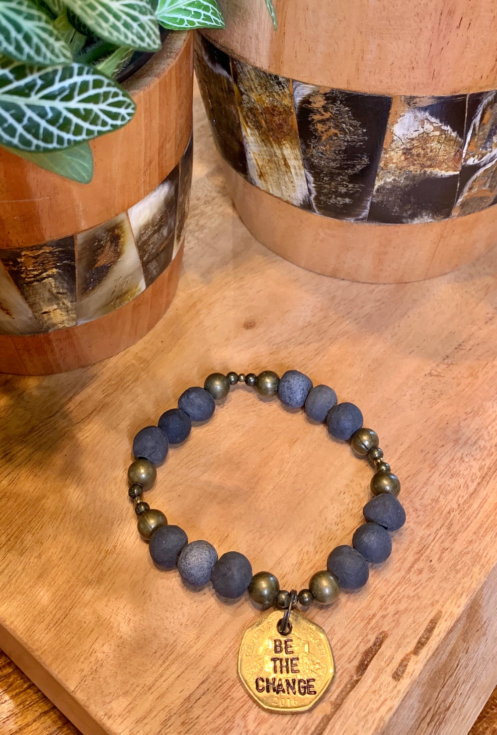 Be the Change Bracelet by Papillon from Haiti