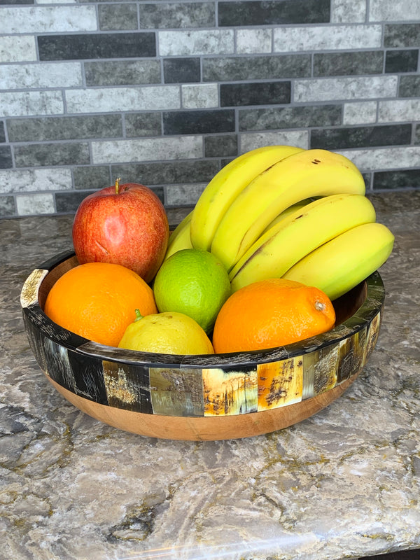 Horn Fruit Bowl by Atelier Calla from Haiti
