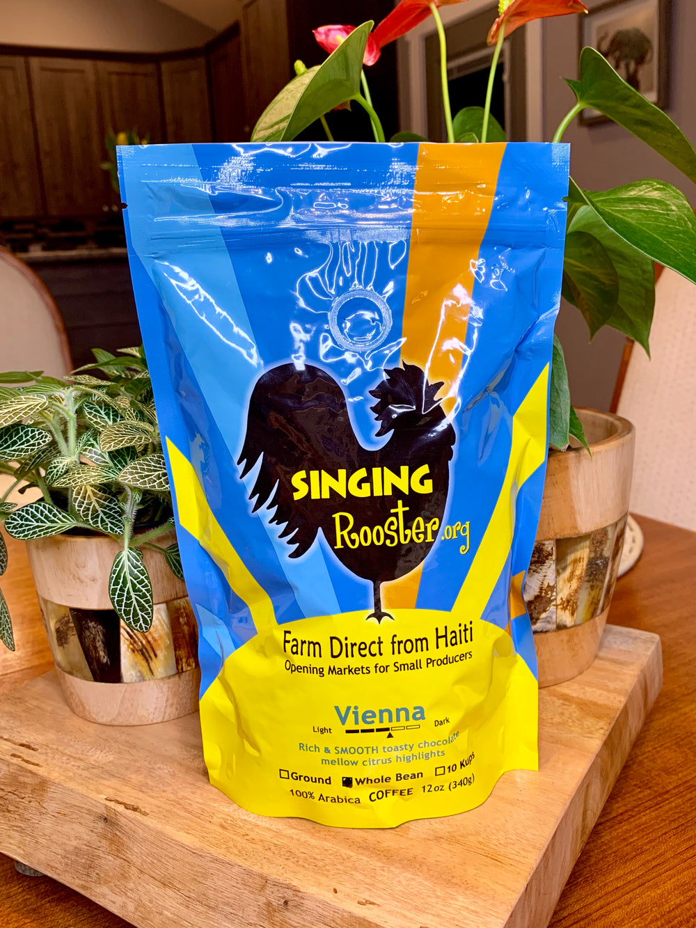 Vienna Medium Roast Coffee by Singing Rooster from Haiti