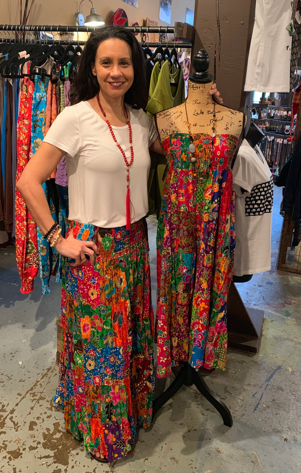 Twisted Patchwork Skirt by Samaritan Creations from Thailand