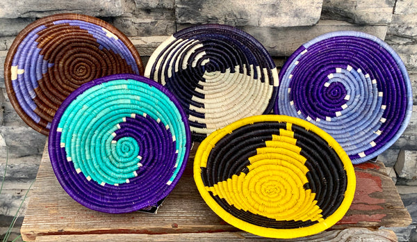 Small Woven Round Bowl by The Mighty River Project from Uganda
