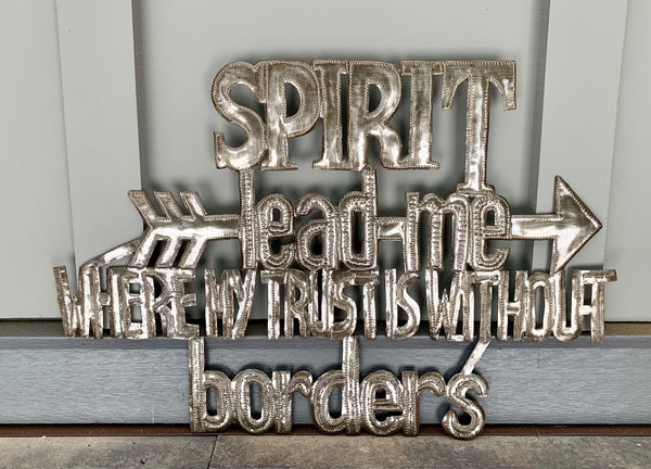 Spirit Lead Me Sign by Papillon from Haiti