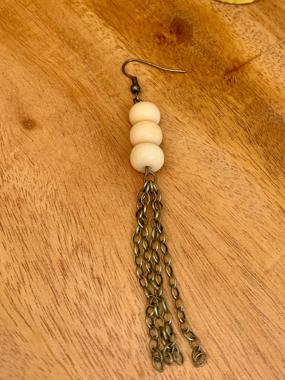 Tagua Ball Tassel Earrings from The Geometrix Collection by Dunamis from Ecuador