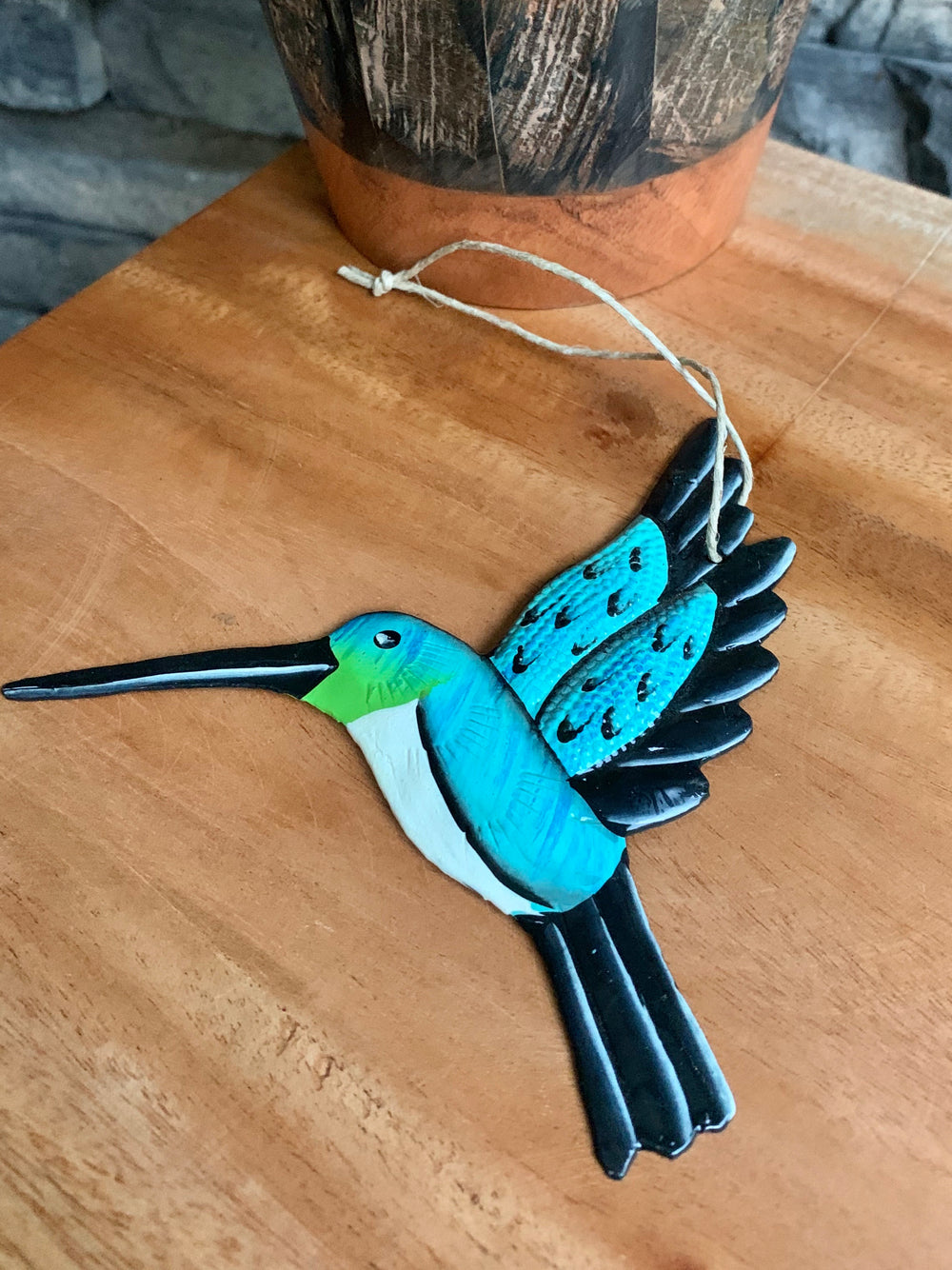Bird Ornament by Singing Rooster from Haiti