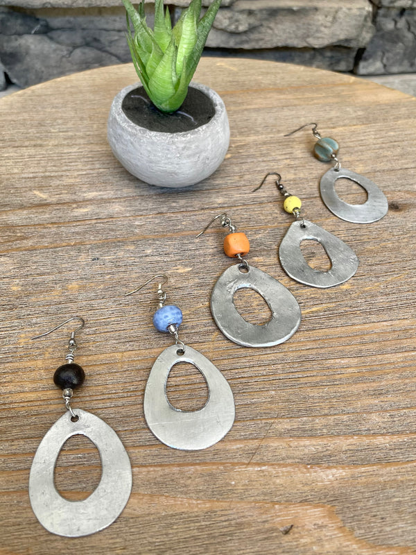 Aluminum Loop Earrings by 2nd Story Goods from Haiti