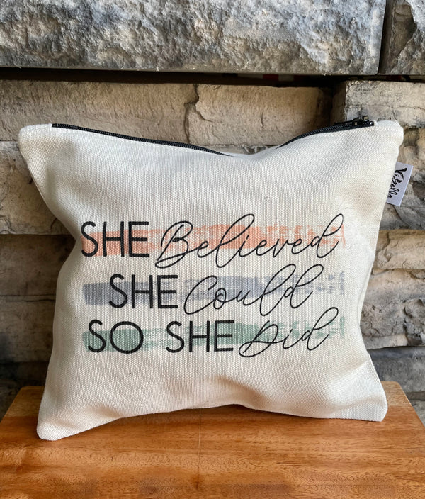 She Believed Pouch by Vi Bella from Haiti