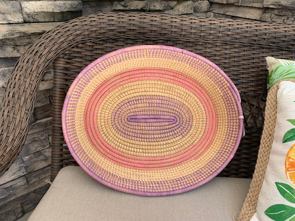 Round Tray by The Mighty River Project from Uganda