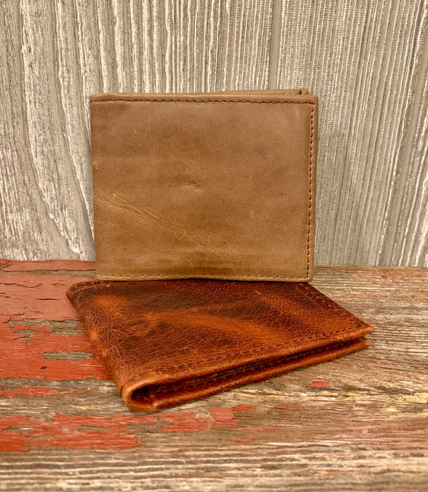Men's Bi-Fold Leather Wallet by Mission Lazarus from Honduras