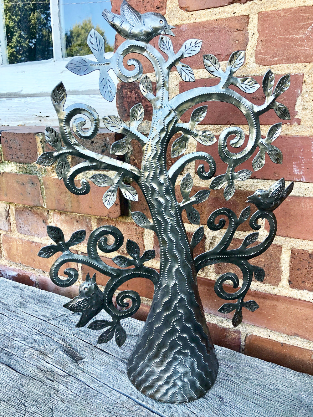 Whimsical Standing Tree by Papillon from Haiti