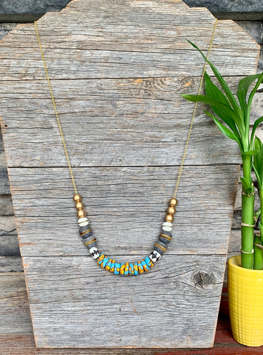 Breezy Beaded Necklace by DuHope from Rwanda