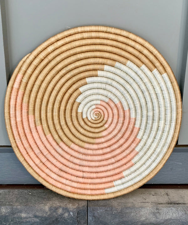 Zera Flat Woven Wall Hanging by Azizi Life from Rwanda