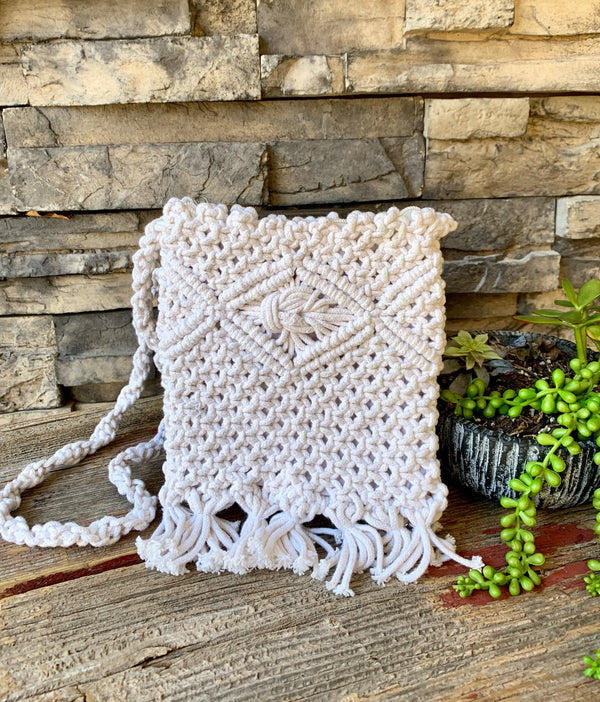 Macrame Purse by White Peacock from Asia