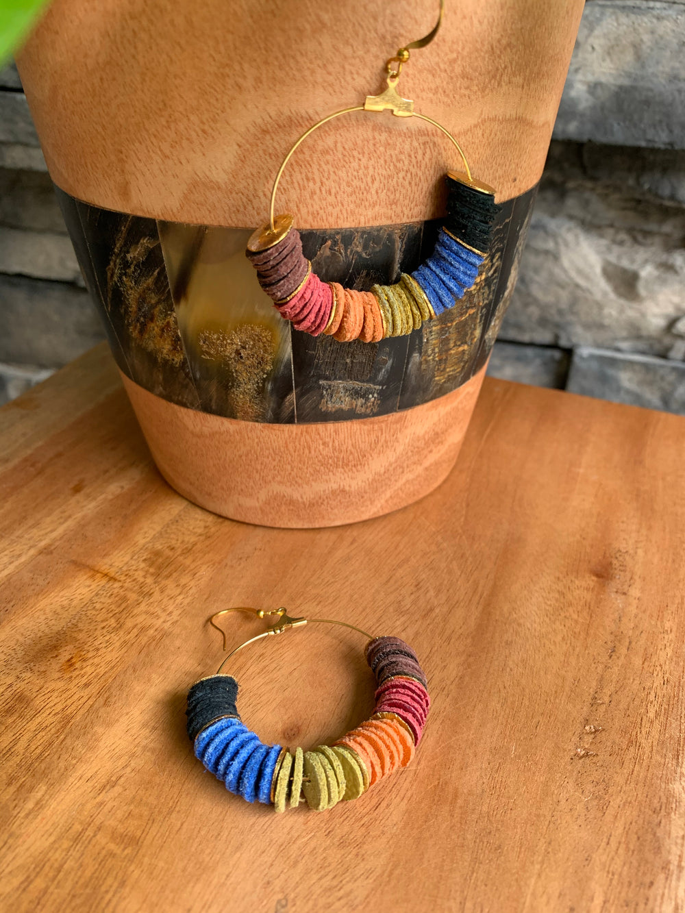Funky Boho Chic Hoop Earrings by DuHope from Rwanda