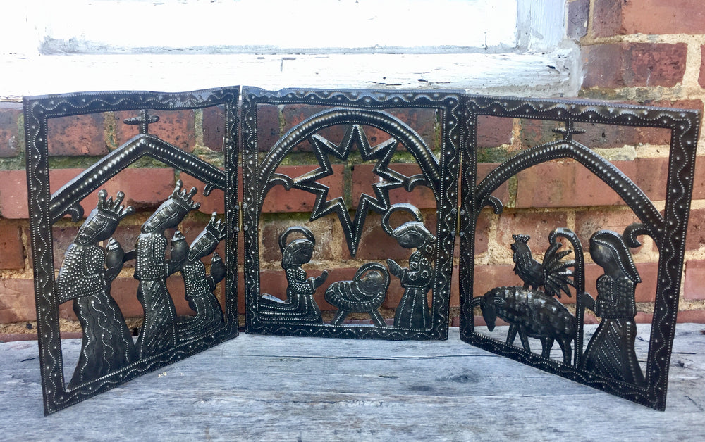 Tri-fold Nativity Scene by 2nd Story Goods from Haiti