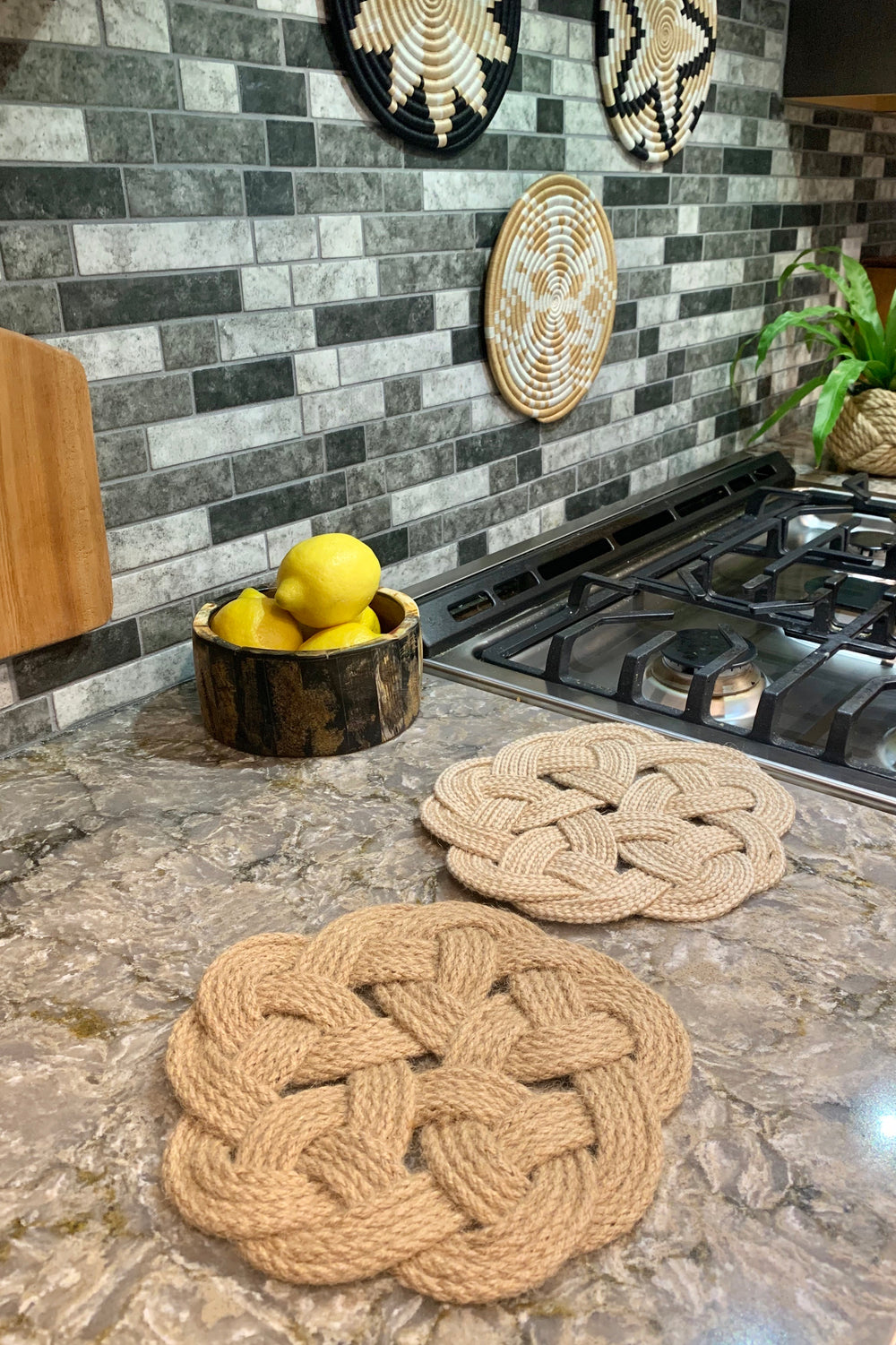 Jute Trivets by Freeleaf from Asia