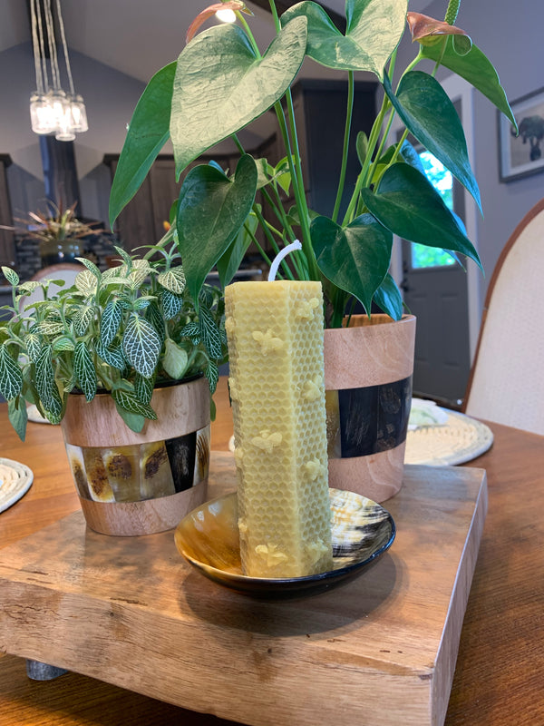 Large Beeswax Candle by Beeutiful Creations from Rwanda