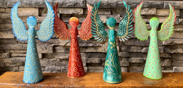 Colorful Tall Angels by Papillon from Haiti