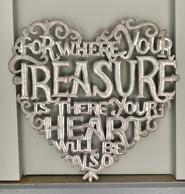 For Where Your Treasure is Sign by Papillon from Haiti