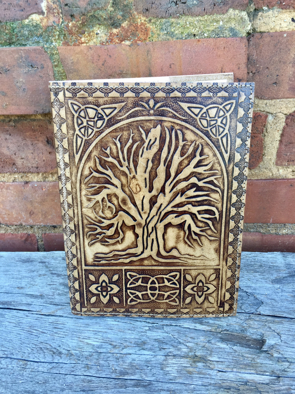 Tree of Life Leather Journal by Rahab's Rope from India