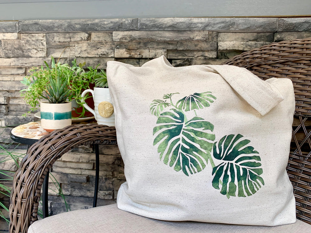 Monstera Tote by SutiSana from Bolivia
