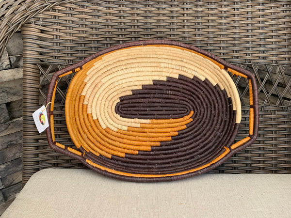 Large Woven Tray by The Mighty River Project from Uganda