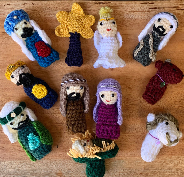 Finger Puppet Nativity Set by Azerbaijani Socks from Azerbaijan