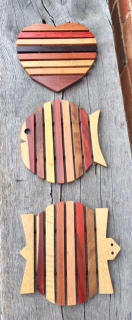 Beautiful Wooden Trivets by Eduardo's Designs from Belize