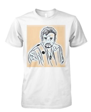 T-Shirt Johnny dessin Orange