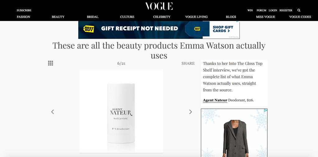 These are all the beauty products Emma Watson actually uses