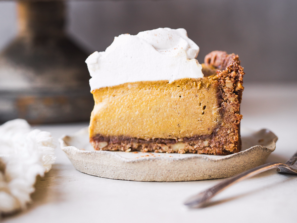Nateur Holiday Cooking With Bakerita: Vegan Pumpkin Cheesecake With GF Graham Crust