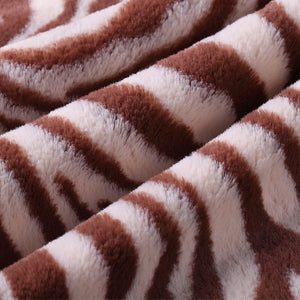Tan Zebra Security Blanket