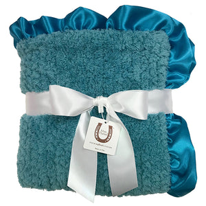 Teal Chenille Baby Blanket