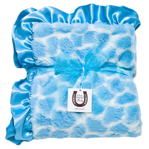 Blue Giraffe Child Blanket