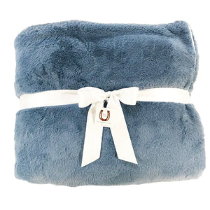 Ultra Plush Dusty Blue Luxe Throw