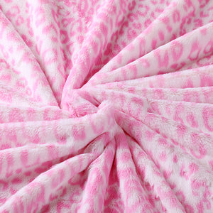 Hot Pink Jaguar Baby Blanket