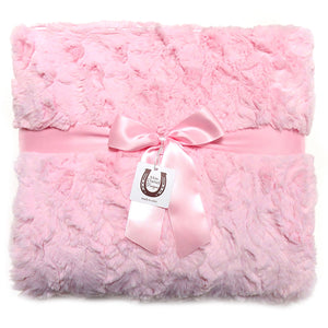 Luxe Pink Bunny Throw