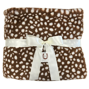 Fawn Throw- Double Sided - Piped Edge