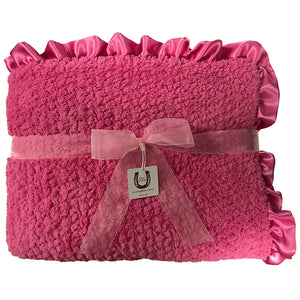 Raspberry Chenille Throw