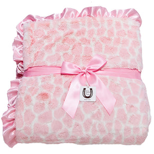 Pink Giraffe Adult Throw