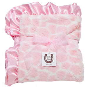 Pink Giraffe Child Blanket