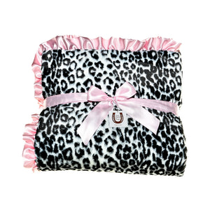 Black Jaguar Throw - Pink Ruffle