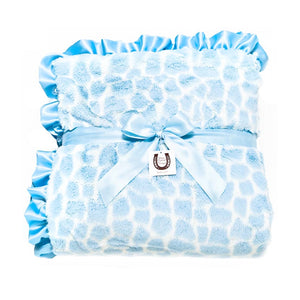 Blue Giraffe Throw