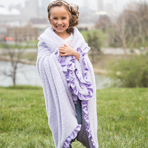 Lavender Chenille Child Blanket
