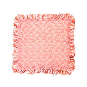 Coral Rosebuds Security Blanket