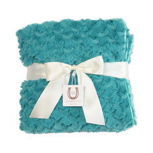 Teal Cozy Twist Baby Blanket