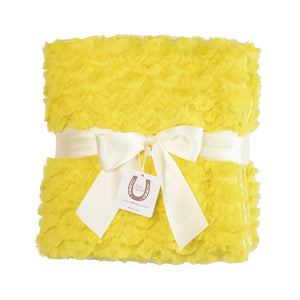 Yellow Cozy Twist Baby Blanket